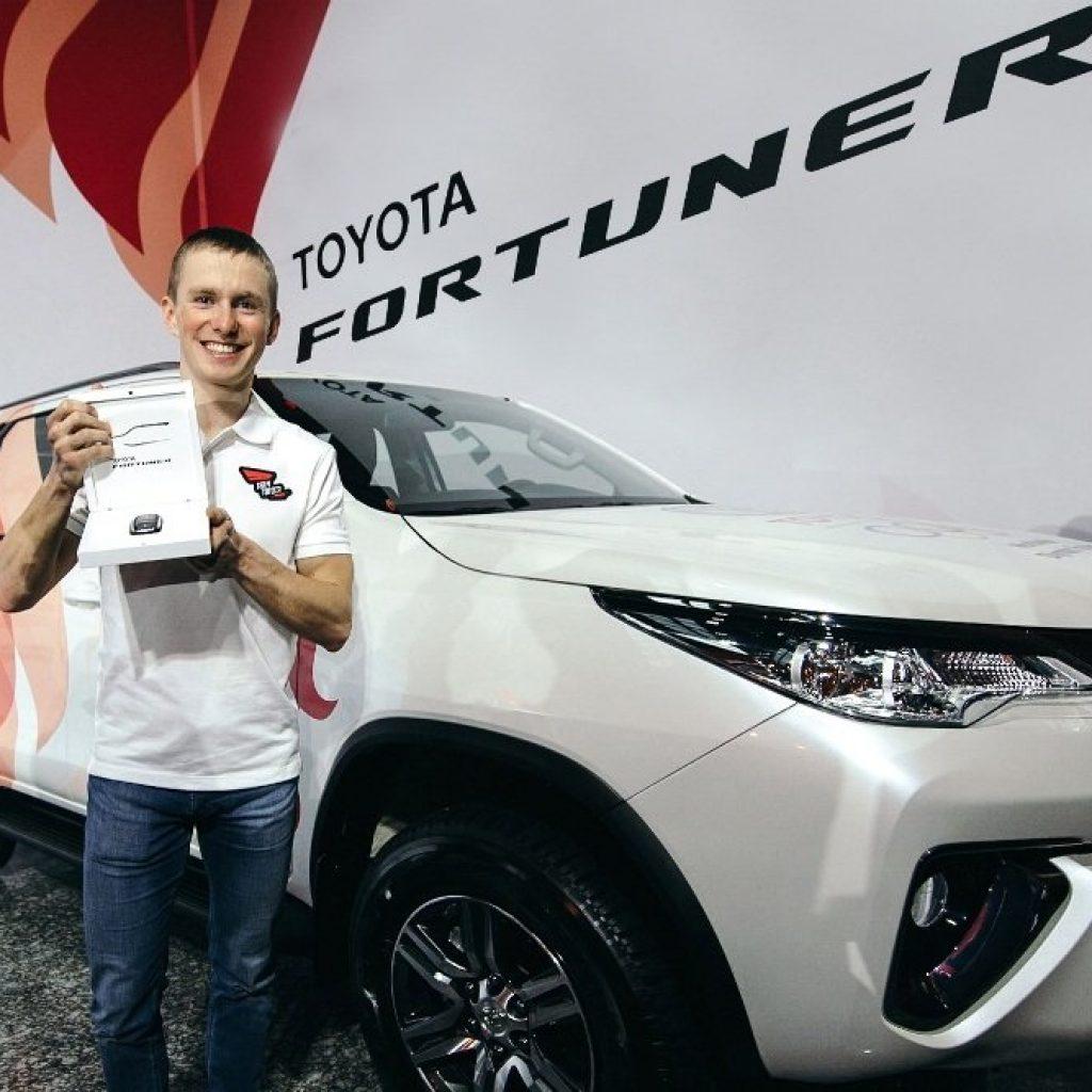 Лыжник Денис Спицов выиграл Тойота Фортунер в рамках Challenge Сup